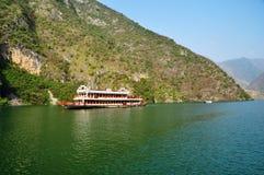 Yangtze Three Gorges pequeno em Wushan China Fotos de Stock Royalty Free