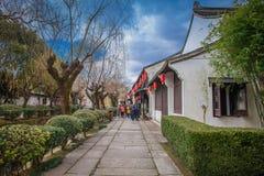 YANGUAN, una ciudad del ancinet en el sur de China imagen de archivo libre de regalías