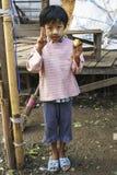 从Yangun的女孩 库存照片