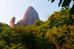Yangyuanshi of danxia mountain Stock Photo