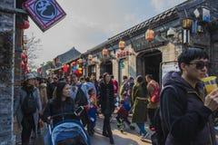 Yangzhou Dong Guan ulica zdjęcia royalty free