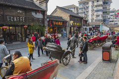 Yangzhou Dong Guan Uliczny Uliczny widok obraz stock