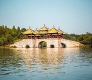Yangzhou five pavilion bridge Stock Image