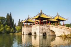 Yangzhou five pavilion bridge Stock Photo