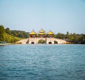 Yangzhou five pavilion bridge Stock Image
