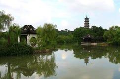 Yangzhou,jiangsu ,china. Scenery of chinese garden in yangzhou city,jiangsu,china Stock Photo