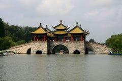 Yangzhou,jiangsu ,china. Scenery of chinese garden in yangzhou city,jiangsu,china Royalty Free Stock Image
