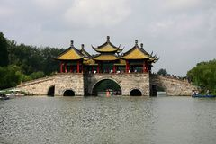 Yangzhou, jiangau, porcelaine Image libre de droits