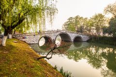 Yangzhou kanału ranek Zdjęcia Royalty Free