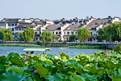 Yangzhou-Lotosteich Stockfoto