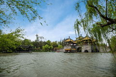 Yangzhou Slender West Lake Five Pavilion Bridge Stock Images