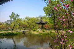 Yangzhou Slender West Lake on the garden Jinquan Huayu. Jinquan Huayu is the main attractions of Wan Garden, according to historical records, the history of royalty free stock image