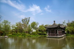 Yangzhou Slender West Lake on the garden Jinquan Huayu. Jinquan Huayu is the main attractions of Wan Garden, according to historical records, the history of royalty free stock images