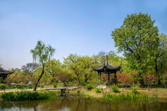 Yangzhou Slender West Lake on the garden Jinquan Huayu. Jinquan Huayu is the main attractions of Wan Garden, according to historical records, the history of stock images
