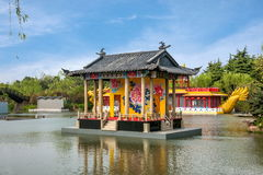 Yangzhou Slender West Lake Water Garden stage. Slender West Lake is located in Yangzhou City, Jiangsu Province, the northwest suburbs, is a famous scenic spots royalty free stock photos