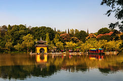 Yangzhou spenslig västra sjö Fotografering för Bildbyråer