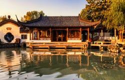 Yangzhou spenslig västra sjö Arkivfoto