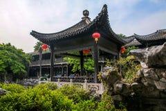 Yangzhou u. x22; der erste Park Ende Qing Dynastys u. x22; --- Er arbeitet im Garten Lizenzfreie Stockfotografie