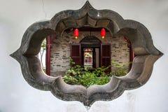 Yangzhou u. x22; der erste Park Ende Qing Dynastys u. x22; - Ho Park-Gebäude Stockbilder