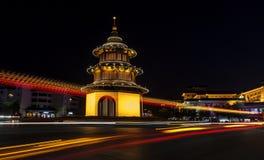 Yangzhou Wenchang paviljong Arkivfoto
