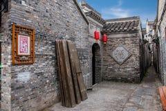 Yangzhou Wschodniej bramy Uliczni antyczni domy Fotografia Royalty Free