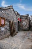 Yangzhou Wschodniej bramy Uliczni antyczni domy Zdjęcia Royalty Free