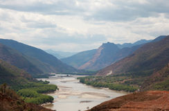 Yangzi river first bend in China Royalty Free Stock Photography