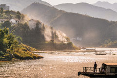 Yangzi river (Long river) in China royalty free stock image