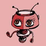 Yanibot - la menace robotique de vol - robot femelle illustration de vecteur