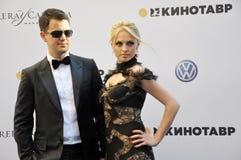 Yanina Studilina and Alexander Rodnyansky Jr. Stock Image