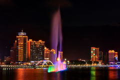 Yanji City, Jilin Province Night Royalty Free Stock Images