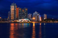 Yanji City, Jilin Province Night Stock Photo