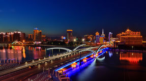 Yanji City, Jilin Province Night Royalty Free Stock Photos