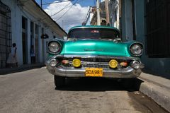 Yank tank in Cuba Royalty Free Stock Image