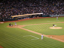 Yankee Alex Rodriguez stands in batters box ready to swing with Stock Image