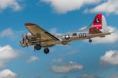 Yankee Dame Preps For Landing Stock Fotografie
