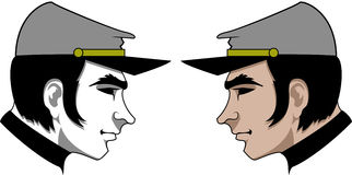 Yankee Profile Logo. Logo with the face of Yankee soldier Stock Photo
