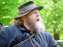Yankee Soldier. Actor at a Civil war reenactment Stone mountain Ga Stock Photos