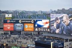 Yankee-Stadions-Schirme Lizenzfreies Stockfoto