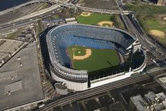 Yankee Stadium. Aerial view of Yankee baseball Stadium in the Bronx, New York City Royalty Free Stock Photo
