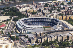 Yankee Stadium from above Stock Images