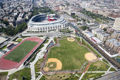 Yankee stadium from air. Royalty Free Stock Photo