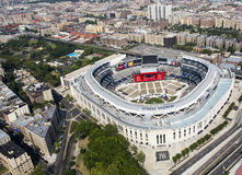Yankee stadium from air. Stock Photo