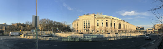 Yankee Stadium during the day in the Bronx Royalty Free Stock Photos