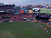 Yankee Stadium die Engels Vriendschappelijk Voetbal ontvangen Stock Foto's