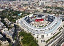 Yankee Stadium från luft Arkivfoto