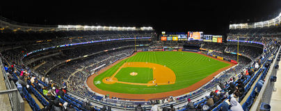 Yankee Stadium from the Grand Stands. Full view of the field Stock Photo