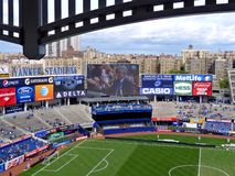 Yankee Stadium. The new modern Yankee Stadium, New York City. Before the friendly game between Manchester City and Chelsea, May 25, 2013 Royalty Free Stock Images