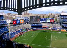 Yankee Stadium. The new modern Yankee Stadium, New York City. Before the friendly game between Manchester City and Chelsea, May 25, 2013 Stock Photography
