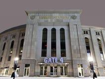 Yankee Stadium at night in winter Royalty Free Stock Image